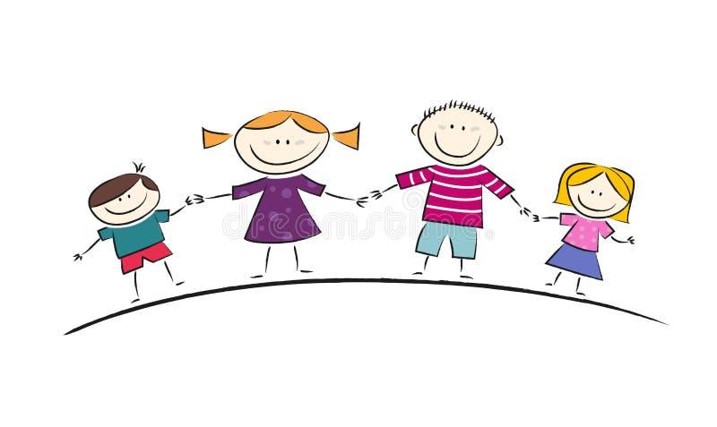 Bande dessinée heureuse de famille illustration libre de droits