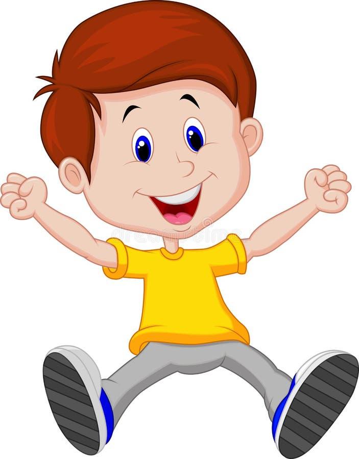 Bande dessinée heureuse de garçon illustration de vecteur