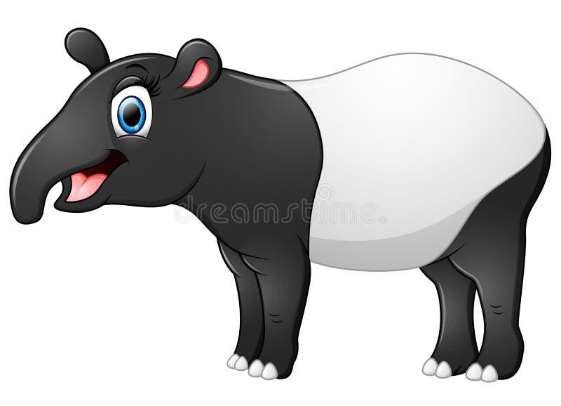 Bande dessinée heureuse de tapir illustration de vecteur