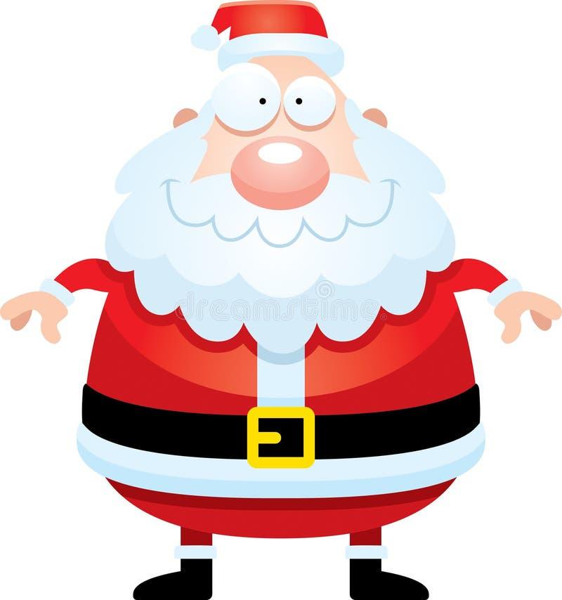 Bande dessinée heureuse Santa Claus illustration stock