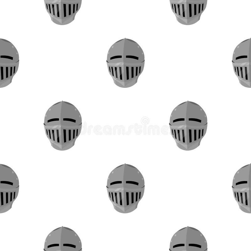 Bande dessinée médiévale d'icône de casque Icône simple d'arme des grandes munitions, bras réglés illustration stock