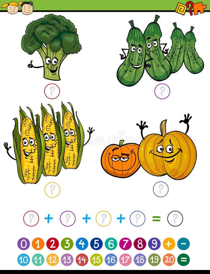 Bande dessinée mathématique d'exercice illustration libre de droits