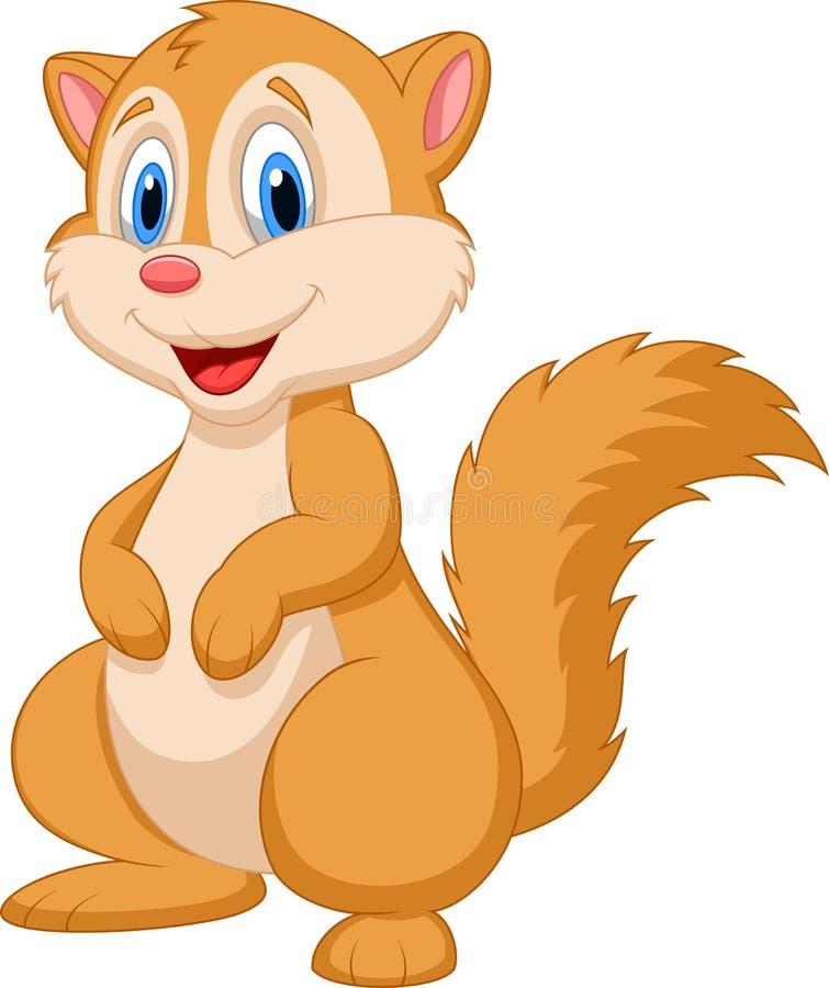 Bande dessinée mignonne d'écureuil illustration libre de droits