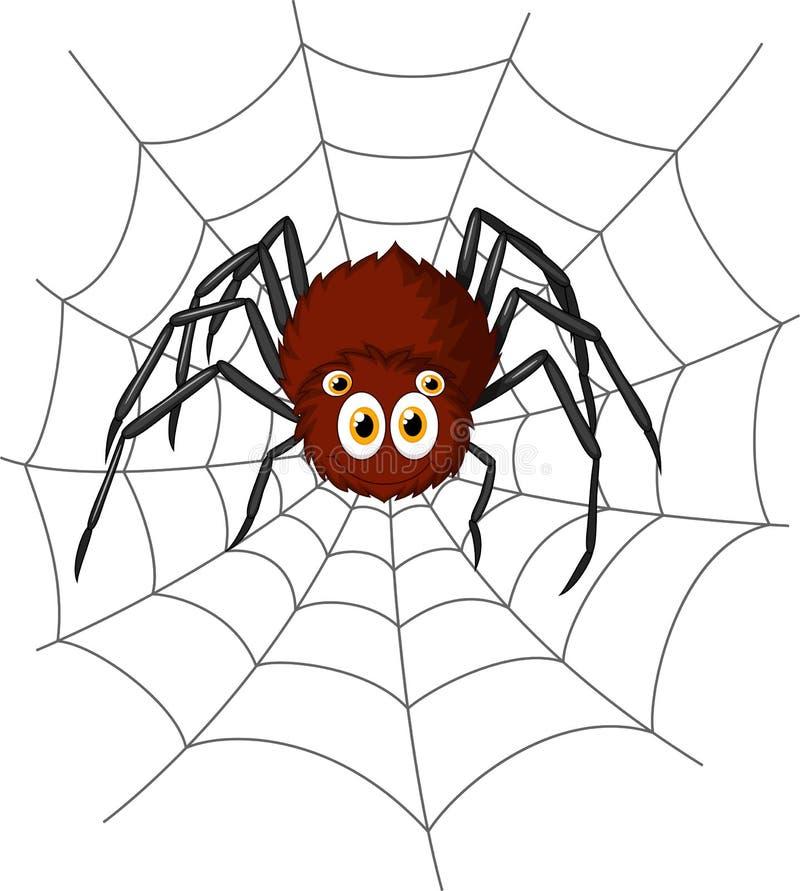 Bande dessinée mignonne d'araignée illustration de vecteur
