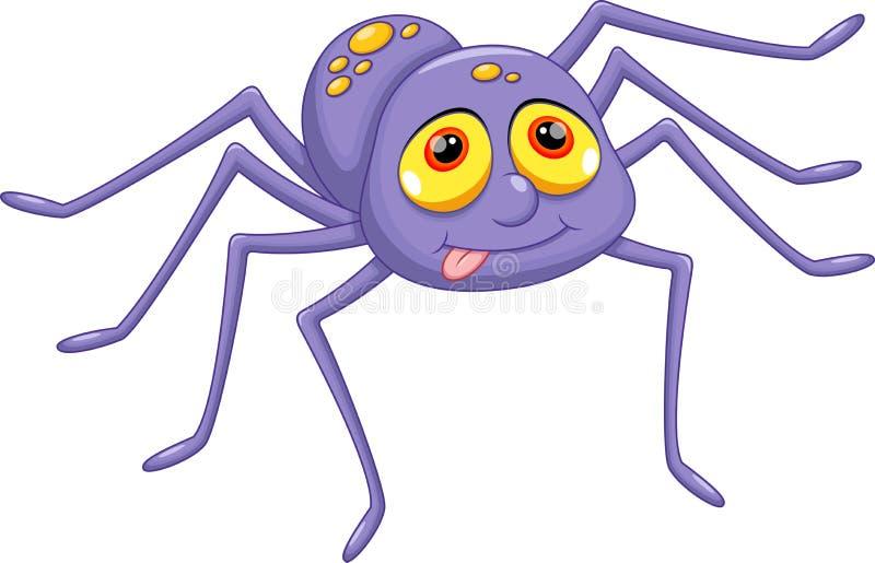 Bande dessinée mignonne d'araignée illustration stock