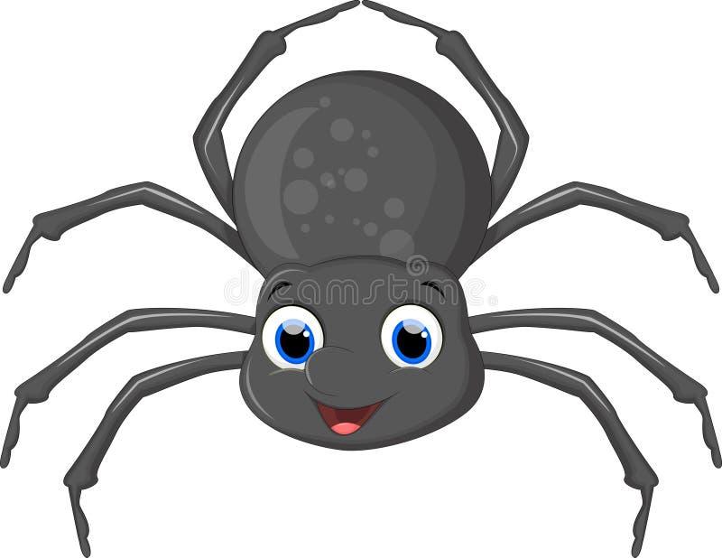 Bande dessinée mignonne d'araignée illustration libre de droits