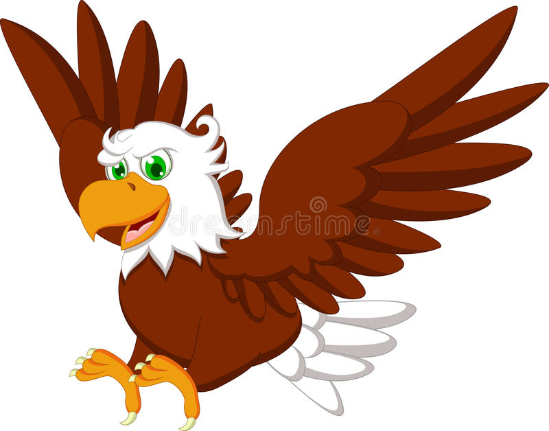 Bande dessinée mignonne d'Eagle illustration libre de droits