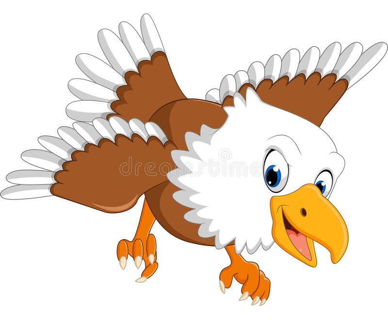 Bande dessinée mignonne d'Eagle illustration stock