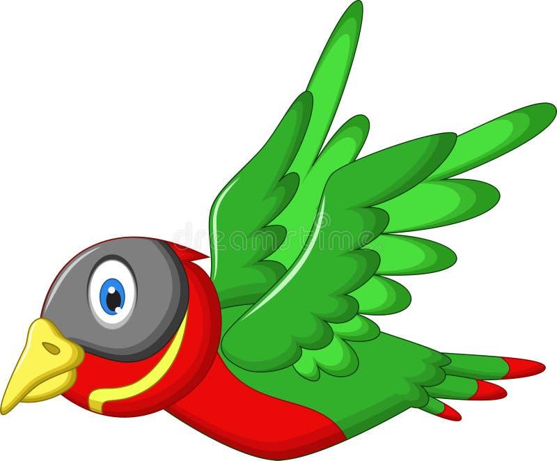 Bande dessinée mignonne d'oiseau de moineau illustration de vecteur