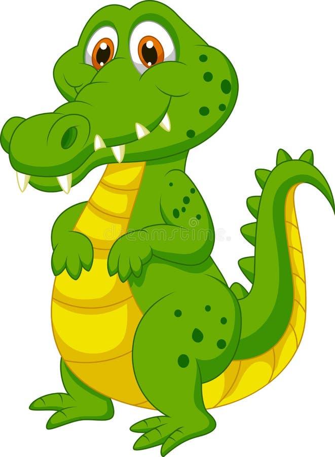 Bande dessinée mignonne de crocodile illustration libre de droits