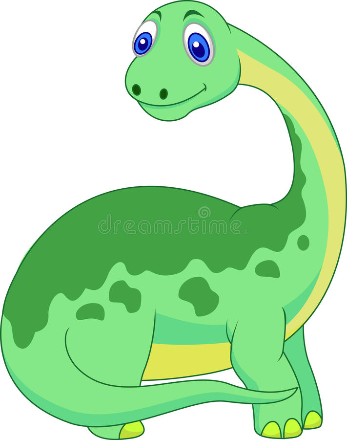 Bande dessinée mignonne de dinosaure illustration de vecteur