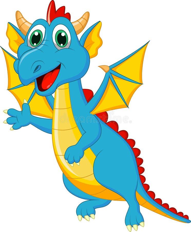 Bande dessinée mignonne de dragon illustration libre de droits