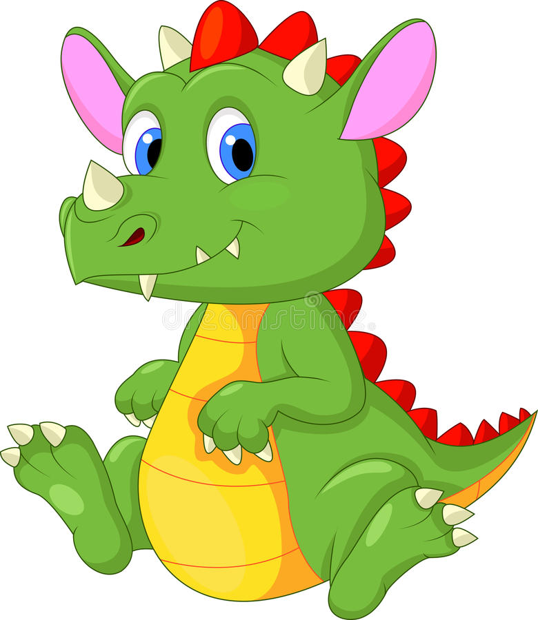 Bande dessinée mignonne de dragon de bébé illustration libre de droits
