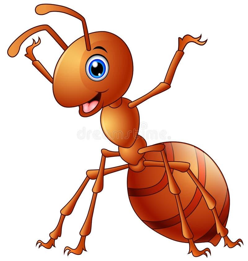 Bande dessinée mignonne de fourmi illustration stock