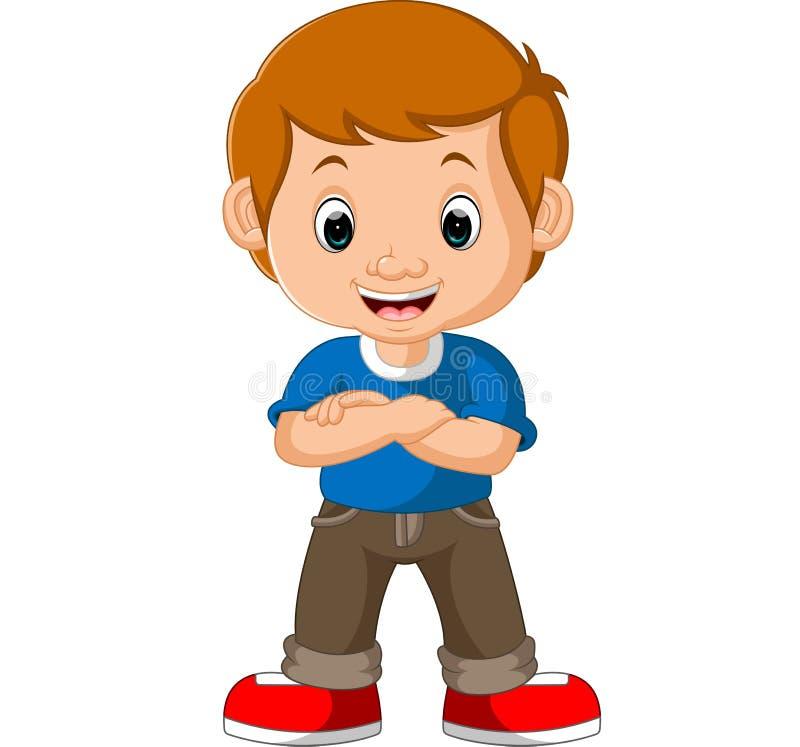 Bande dessinée mignonne de garçon illustration de vecteur