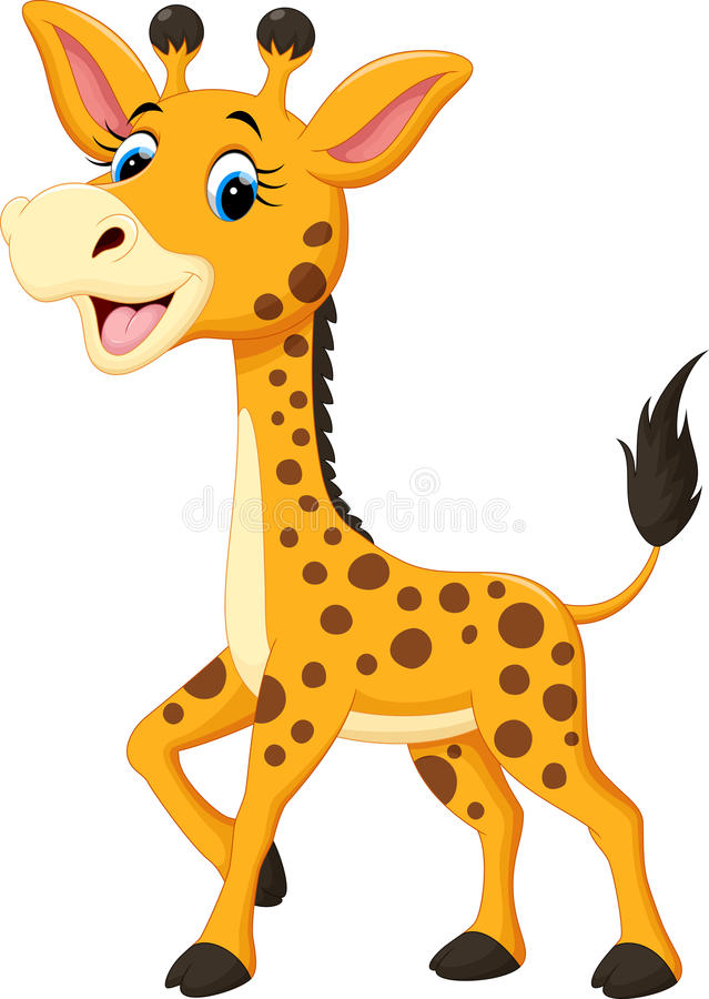 Bande dessinée mignonne de girafe illustration stock