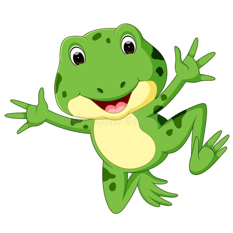 Bande dessinée mignonne de grenouille illustration de vecteur