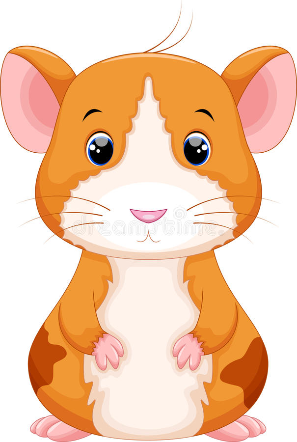 Bande dessinée mignonne de hamster illustration stock