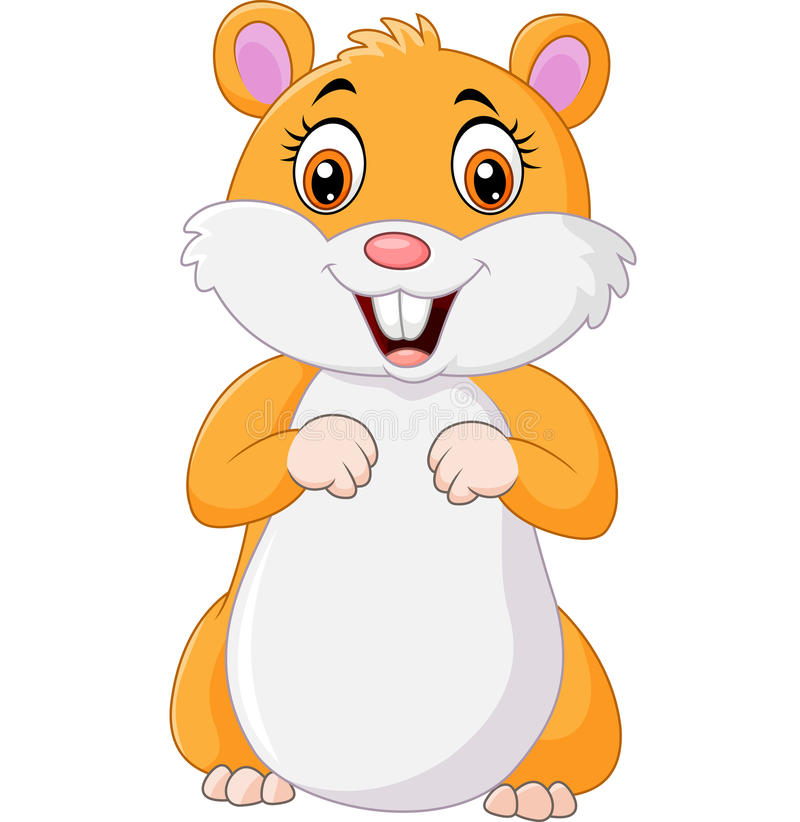 Bande dessinée mignonne de hamster illustration de vecteur