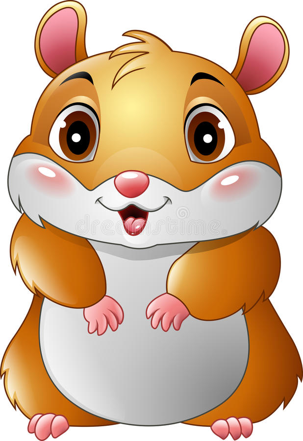 Bande dessinée mignonne de hamster illustration libre de droits