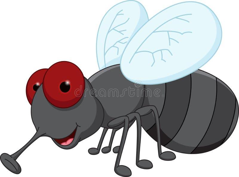 Bande dessinée mignonne de mouche illustration de vecteur