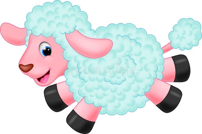Bande dessinée mignonne de moutons illustration libre de droits