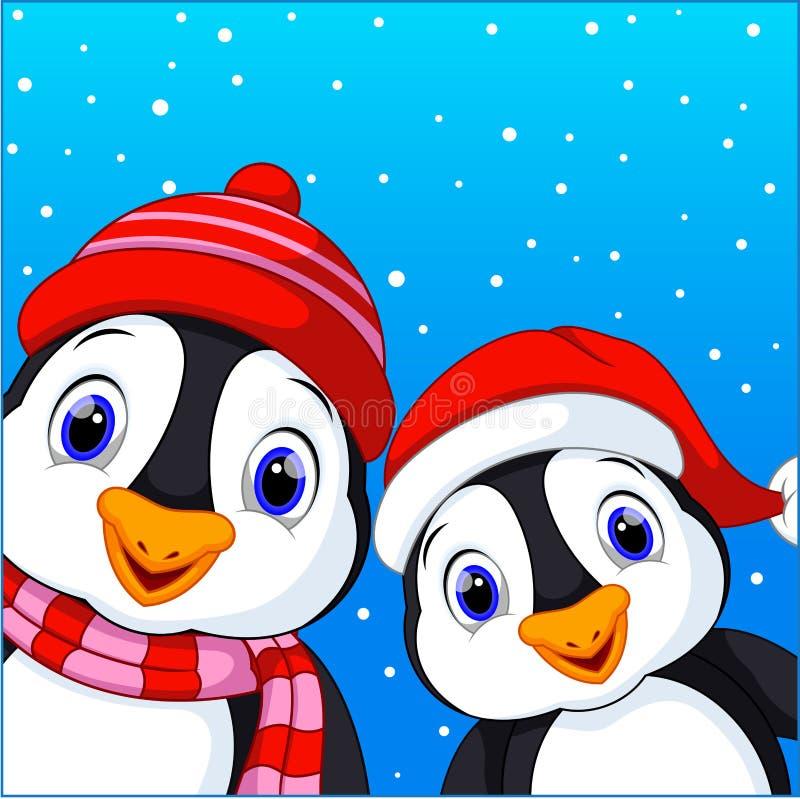 Bande dessinée mignonne de pingouins illustration stock