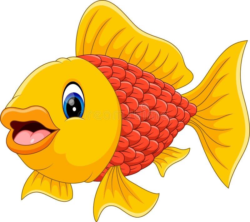 Bande dessinée mignonne de poissons illustration libre de droits