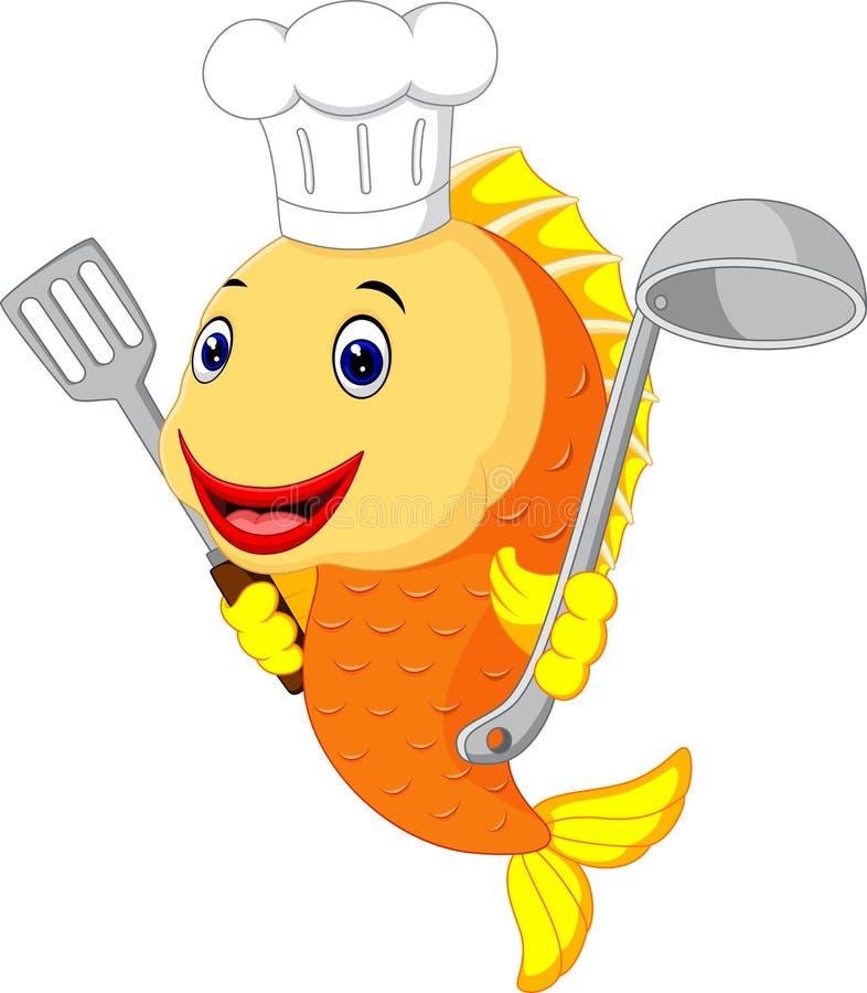Bande dessinée mignonne de poissons illustration stock