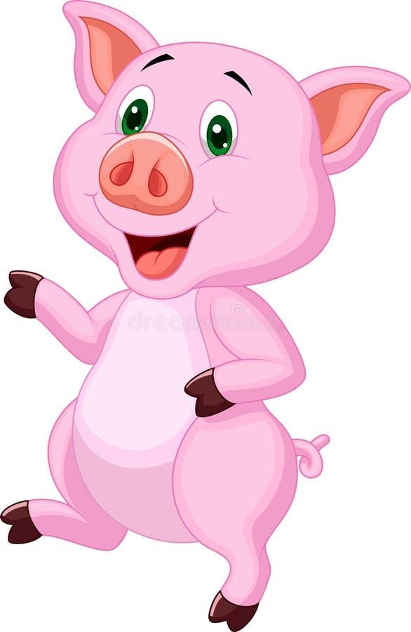 Bande dessinée mignonne de porc illustration libre de droits