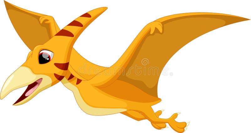 Bande dessinée mignonne de ptérodactyle illustration stock