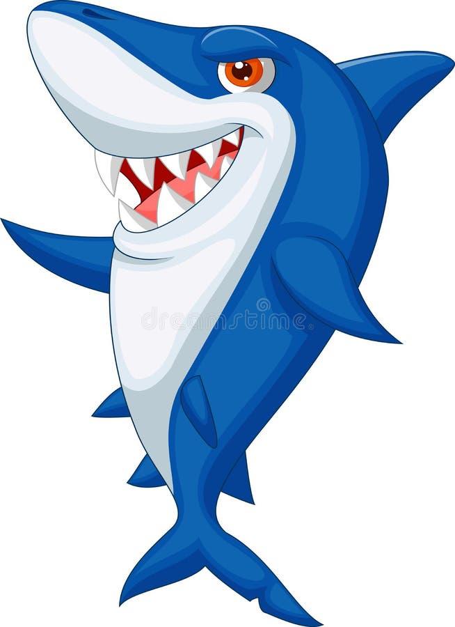 Bande dessinée mignonne de requin illustration stock