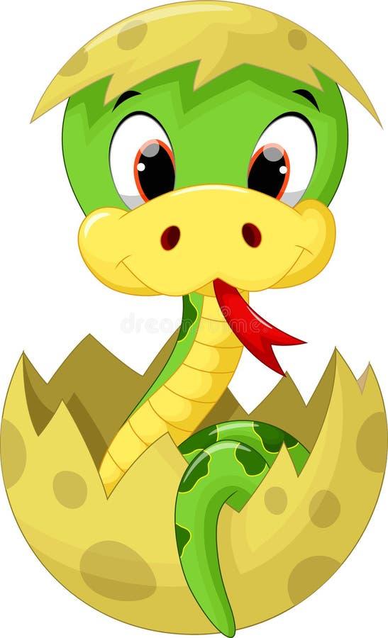 Bande dessinée mignonne de serpent de bébé illustration libre de droits