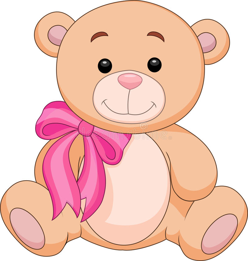 Bande dessinée mignonne de substance d'ours brun illustration libre de droits