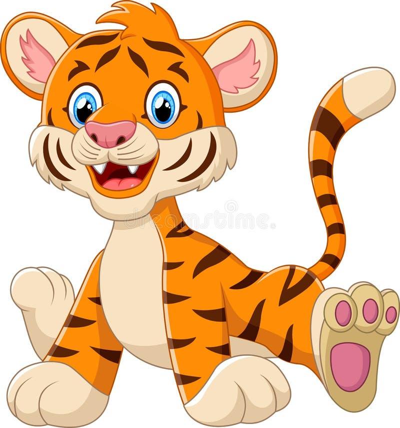 Bande dessinée mignonne de tigre de bébé illustration stock