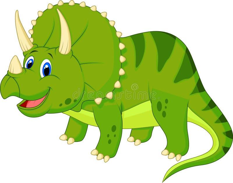 Bande dessinée mignonne de triceratops illustration de vecteur