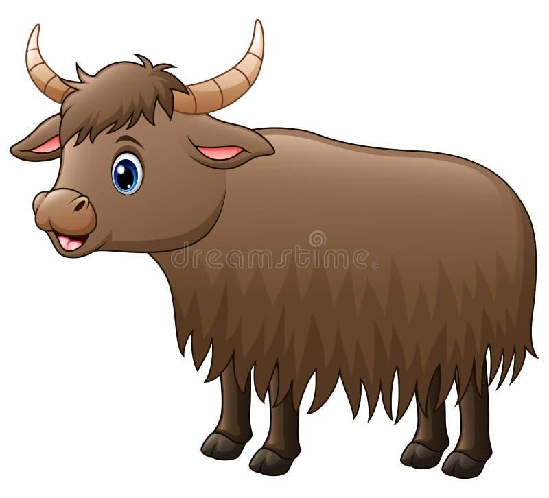 Bande dessinée mignonne de yaks illustration de vecteur