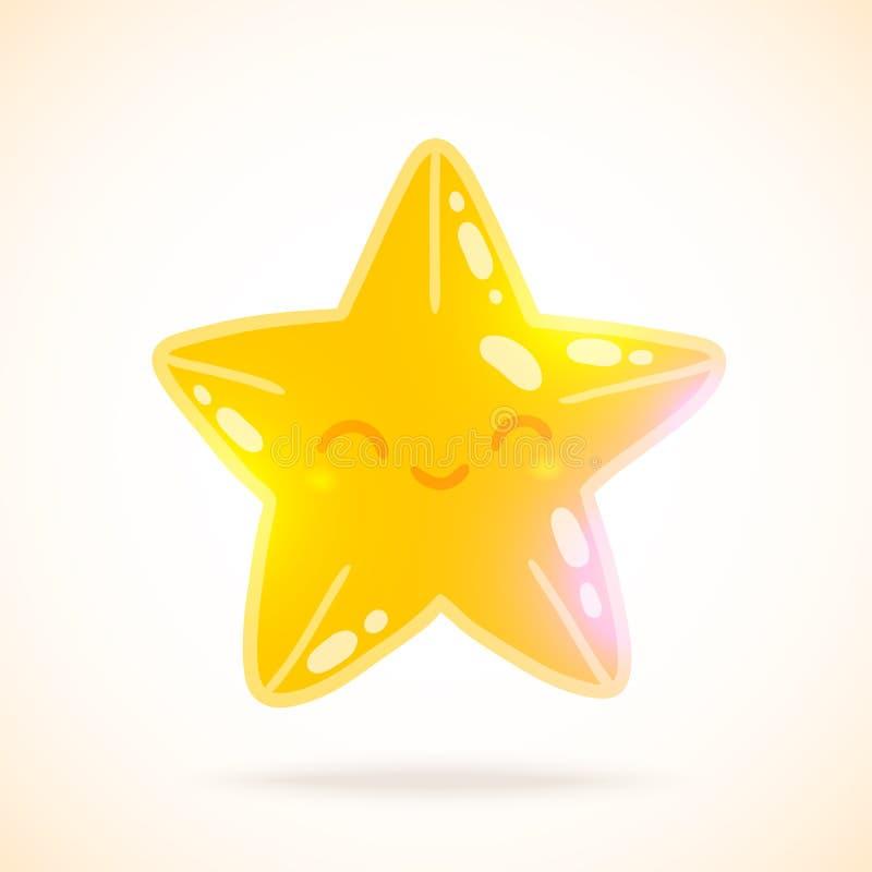 Bande dessinée mignonne peu d'étoile. image de vecteur illustration libre de droits