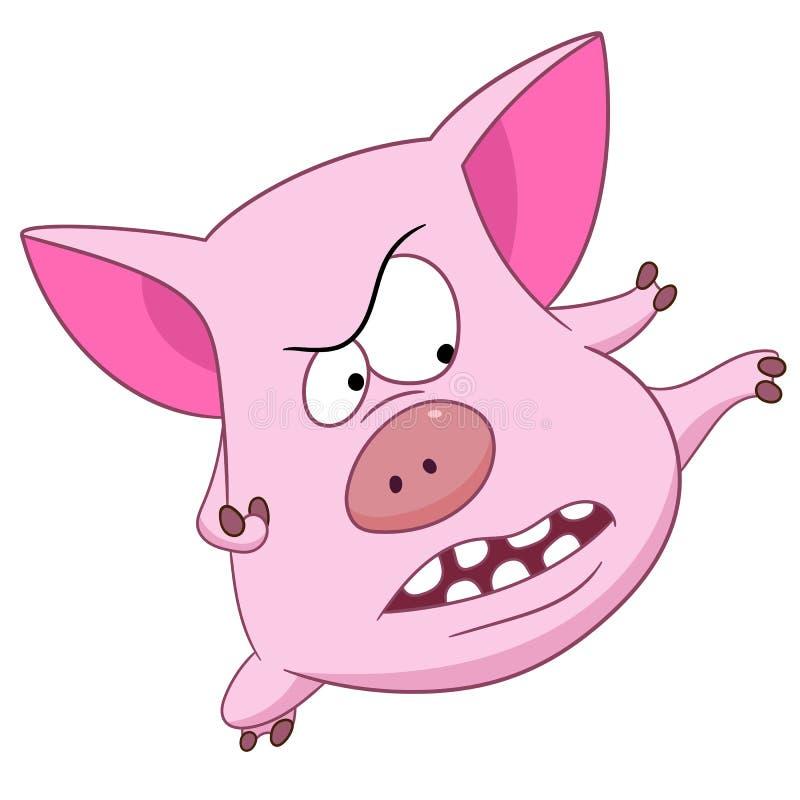 Bande dessinée mignonne porcine illustration libre de droits