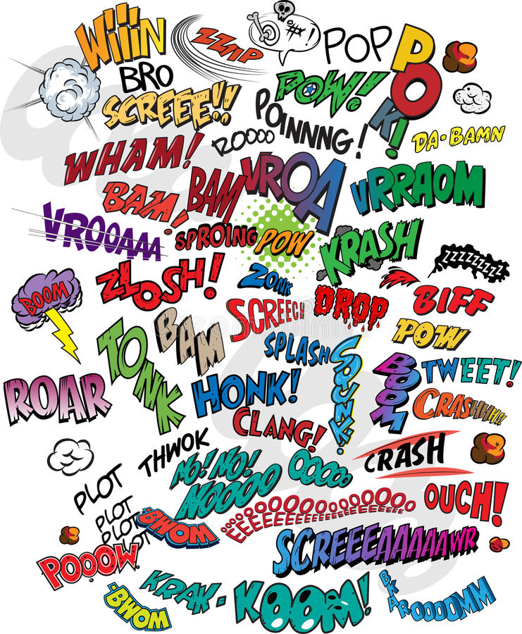 Bande dessinée - mots illustration de vecteur