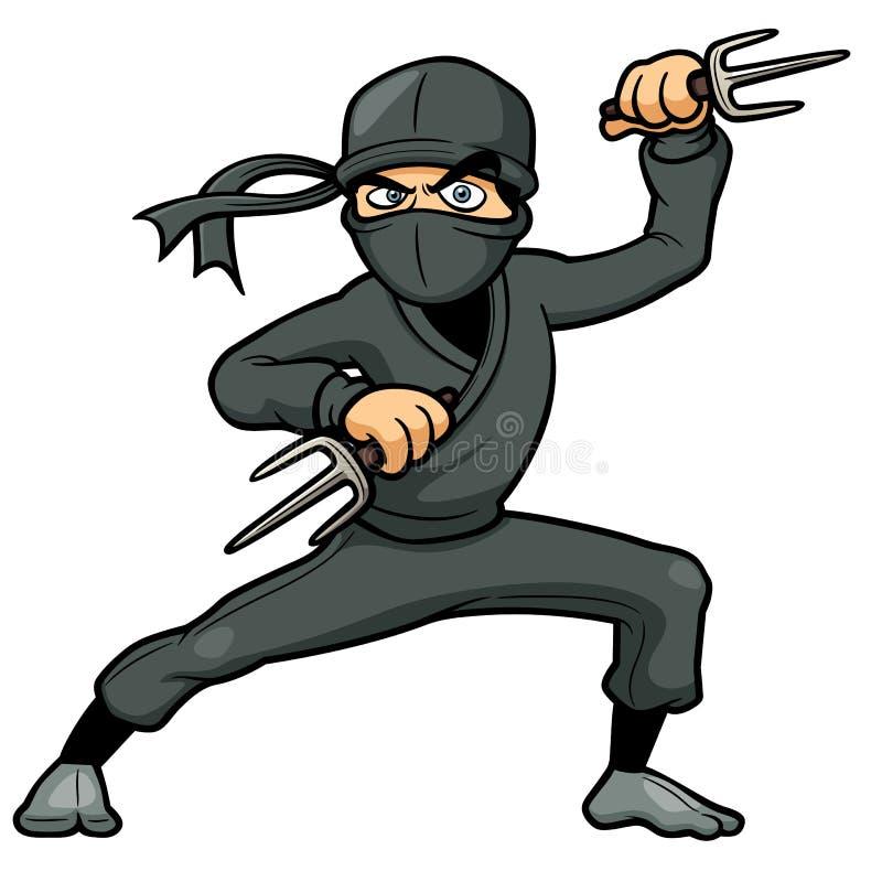 Bande dessinée Ninja illustration de vecteur