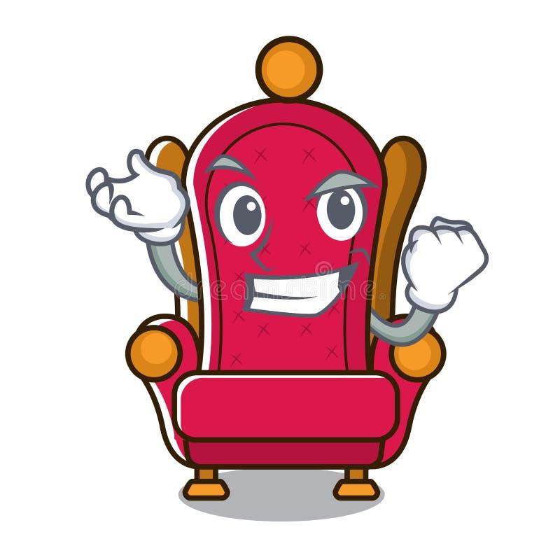 Bande dessinée réussie de caractère de trône de roi illustration stock