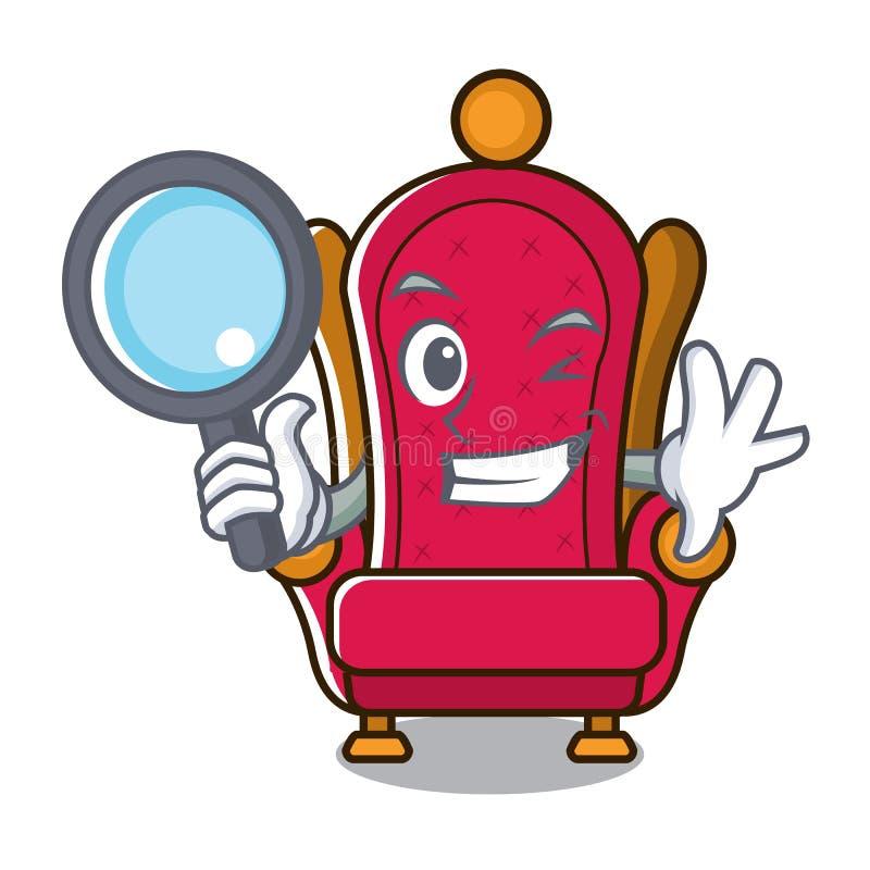 Bande dessinée révélatrice de caractère de trône de roi illustration stock