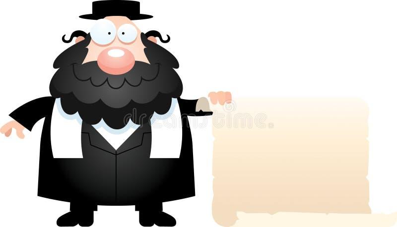 Bande dessinée Rabbin Sign illustration stock
