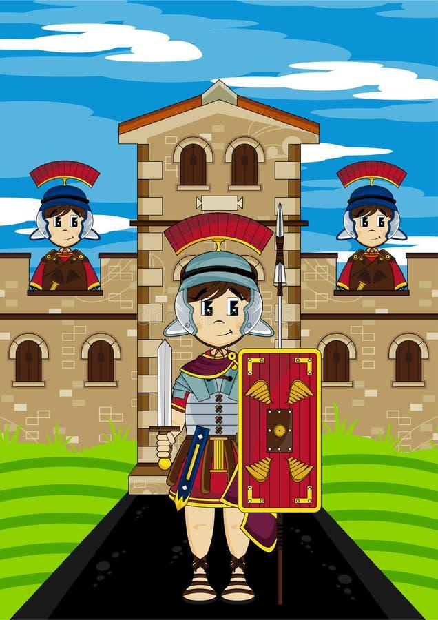 Bande dessinée Roman Soldiers au fort illustration de vecteur