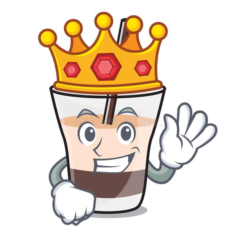 Bande dessinée russe blanche de mascotte de roi illustration stock