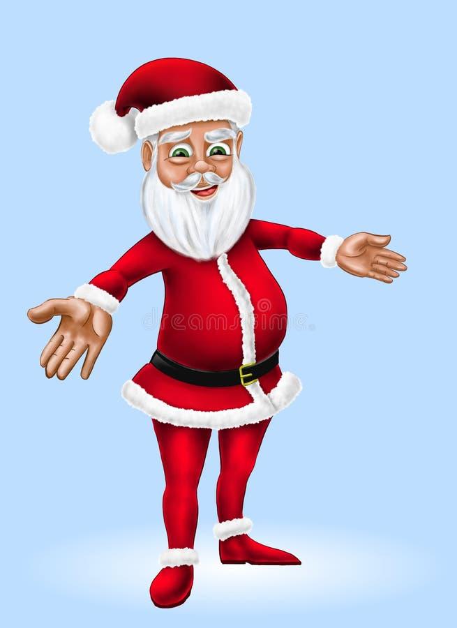 Bande dessinée Santa Claus Christmas Character Illustration illustration libre de droits