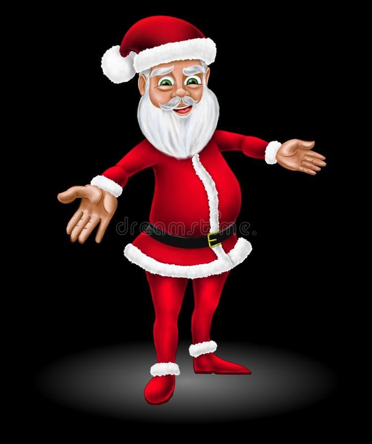 Bande dessinée Santa Claus Christmas Character Illustration photo stock