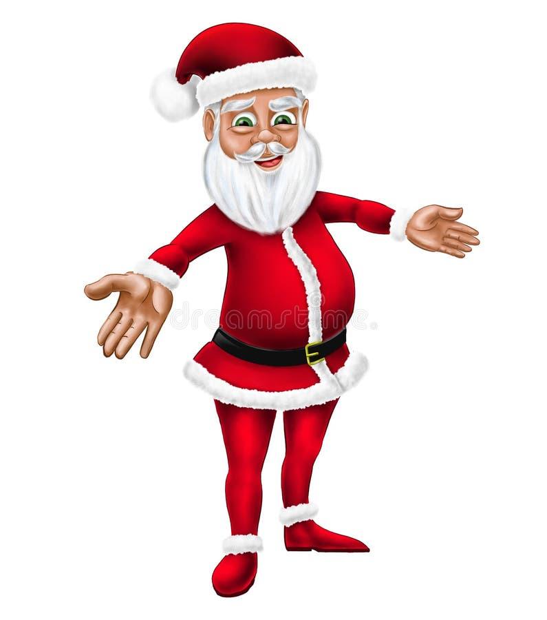 Bande dessinée Santa Claus Christmas Character Illustration illustration de vecteur