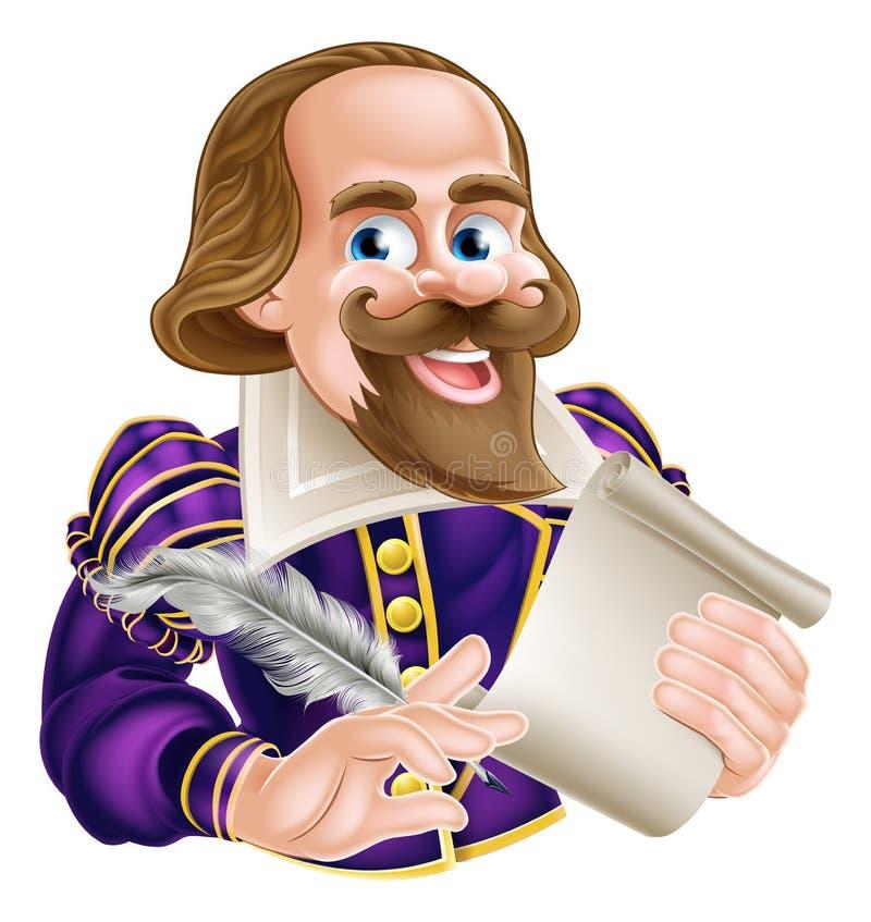 Bande dessinée Shakespeare illustration stock